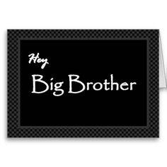 BIG BROTHER Best Man Invitation Customizable Card