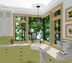 Kitchens, Corner, House Design, Windows, Building, Home Decor, Little Cottages, Decoration Home, Room Decor