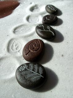Carved river stones...dremel bait.. ;-)