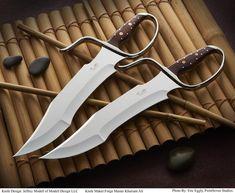 Nightmare Grind Butterfly Swords, Böhler 440C Blade Steel (Collector Grade)