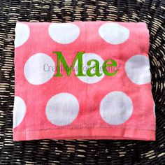 Monogrammed Beach Towel by creationsforeleanor on Etsy