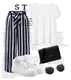 """""""Keeping it casual"""" by emotionalbeecc ❤ liked on Polyvore featuring Monsoon, NIKE, Gap and Michael Kors"""