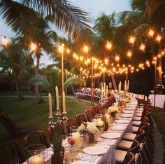 Dinner for 70 by India Hicks, via the Northern Light Blog. Harbour Island, Bahamas