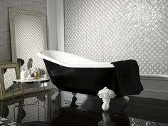 Bagno Stile Romantico : Vasca da bagno centro stanza stile retro per un bagno romantico