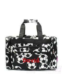 """Personalized Soccer 17"""" Kids Duffle Bag"""