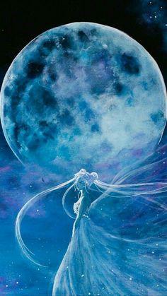 Sailor Moon princess serenity full moon art This would be a really pretty screensaver