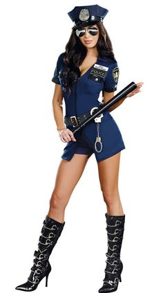 free shipping Sexy Police Officer Ladies Cops Costume Occupation Uniform Womens Fancy Dress