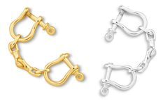 Shackle Separable Key Ring Available in Silver, 14k & 18k #separablekeyring #sterlingsilvershackle #goldshackle