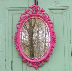 Feels like Spring!  Wall Mirror Ornate Vintage Syroco Double Frame by GloryBDesign, $119.95