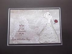"""Hochzeitskarte mit einer Braut """" Mit Stil """""""