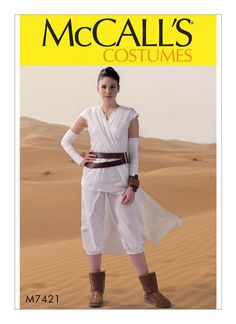 Sewing Patern -McCalls 7421 Star Wars The Force Awakens Rey  Size s-xl by ErikasChiquis on Etsy