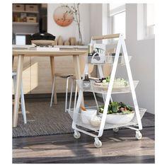 RISATORP Utility cart, white - IKEA Ikea Storage, Craft Storage, Extra Storage, Kitchen Island Trolley, Kitchen Cart, Ikea Kitchen, Kitchen Tools, Kitchen Ideas, Ikea Island