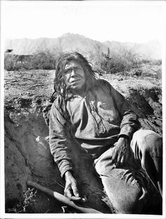 Pima Indian man, Sa-Vaughn, Pima, Arizona, ca.1900