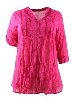 Blouse ZbyZ ingestikte plooitjes::blouses::Grote maten - mode online | Gratis verzendig | Bagoes fashion