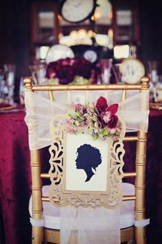 Beautiful #wedding chair decor ~ New Year's Wedding Inspiration : Somewhere In Time | bellethemagazine.com