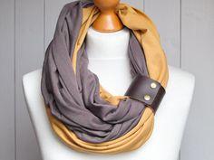 Plain – Tube scarf circle scarf by ZOJANKA – a unique product by Zojanka on DaWanda