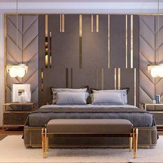 bedroom interior design Comfortable Modern Small Bedroom Design and Decor Ideas Luxury Bedroom Design, Bedroom Bed Design, Luxury Home Decor, Home Bedroom, Luxury Homes, Bedroom Ideas, Luxury Master Bedroom, Bedroom Styles, Luxury Interior Design