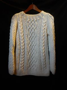 Hand knit wool sweater by MariyaMitov on Etsy Pearl Decorations, Wool Yarn, Wool Sweaters, Hand Knitting, Pullover, Unique, How To Make, Etsy, Shopping