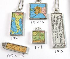 Custom Map Pendant - Choose a map and size by XOHandworks.com $28