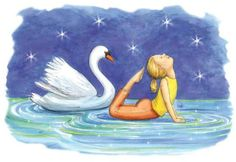 The ABCs Yoga for Kids by Teresa Anne Power, illustrated by Kathleen Rietz: 'Swan Pose - I am a beautiful swan. My neck is graceful and long. Yoga Nidra, Asana, Abc Yoga, Yoga Background, Pilates, Beautiful Swan, Beautiful Yoga, Yoga Books, Yoga For Kids