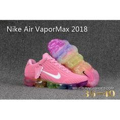 brand new 7f33e 38b44 Discount Nike Air Vapormax Kpu Womens Running Shoes Pink Rainbow