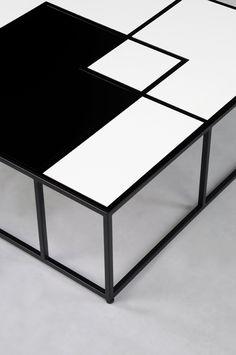 Tetris#coffee table #design by Lestrocasa Firenze #interiordesign #home #steel #modern #HPL#black&white#Lestrocasa