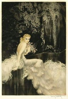 Orchids by Louis Icart, 1937