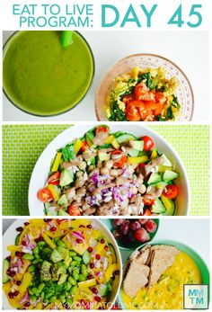 Daily menu plan for Dr Fuhrman's Eat to Live Nutritarian program!  Breakfast, lunch and dinner recipes included!
