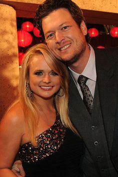 Miranda Lambert & Blake Shelton :) i wish i could marry them both.....