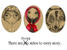 Little Red Riding Hood Inspired Humorous Art by thedreamygiraffe, $18.00