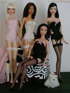 Barbie in lingerie by Wandy in Pensacola, via Flickr