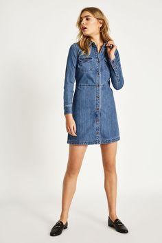 ROSEBANK DENIM SHIRT DRESS | JackWills UK