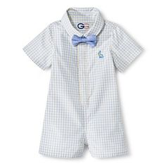 G-Cutee® Newborn Boys' Check Shirtall - Blue/Yellow