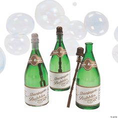 """Send the newlyweds off in a shower of shimmering bubbles! These party favor blowing bubbles are a fantastic way to have some """"bubbly"""" at your ... Wedding Reception Party Favors, Anniversary Party Favors, Unique Wedding Favors, Wedding Ideas, Wedding Stuff, Wedding Inspiration, Wedding Anniversary, Irish Wedding, Gatsby Wedding"""