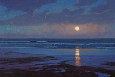 Beach Moonrise by Sam Vokey, 24x36 inches
