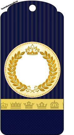 Tag Agradecimento Coroa Príncipe Azul Marinho:
