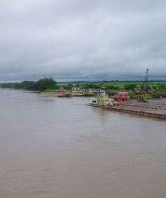 El río Meta a la altura de Puerto López. Colombia