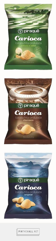 Piraquê lança batatas fritas onduladas via Design Innova curated by Packaging Diva PD. As embalagens têm a cara do Rio de Janeiro.