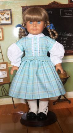 American Girl Civil War Outfit in Aqua Plaid by RuthielovestoSew, $38.00