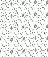A semi-regular tessellation: tiled floor of a church in