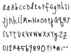 Quickutz alphabet - Heidi Swapp Handwriting Classic 4x8 Alphabet