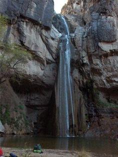 Capote Falls in Big Bend National Park