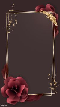 Gold Wallpaper Background, Wallpaper Nature Flowers, Framed Wallpaper, Flower Phone Wallpaper, Flower Backgrounds, Wallpaper Backgrounds, Phone Wallpapers, Red Flowers, Red Roses