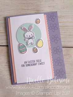 Sweet Bunny Easter Card made with the Basket Bunch bundle from Stampin' Up! www.nicollebelesimo.stampinup.net
