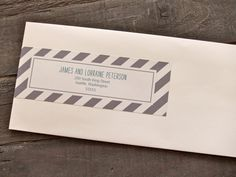 Printable Wrap Around Address Labels: Stripe. $12.00, via Etsy.