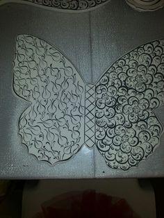 Kelebek Pretty Animals, Pattern Art, Kaftan, Zentangle, Tiles, Oriental, Butterfly, Inspiration, Room Tiles