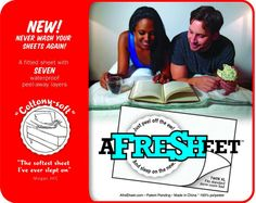 AfreSHeet - The Innovative Bed Sheet Designed for Dirty College Students!