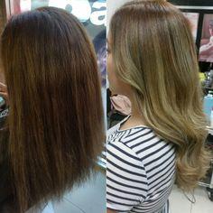 #Flamboyage by Yubia cabello cuidado con #Olaplex
