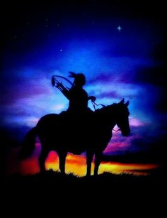 Indian art, western art, indian brave, native American, sunset, sunrise, print…
