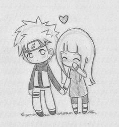 Chibi NaruHina love by ~Nowii on deviantART – Uzumaki Naruto Art Drawings Sketches, Love Drawings, Cartoon Drawings, Easy Drawings, Naruto Drawings Easy, Awesome Drawings, Drawing Pictures, Pencil Drawings, Cute Couple Drawings